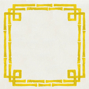 Bamboo Yellow Charger (ENLARGED TO SHOW DETAIL) - (SQUARE)