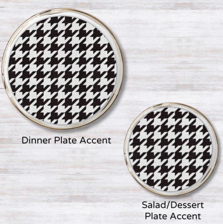Houndstooth Plate Accent