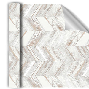 Whitewash Herringbone