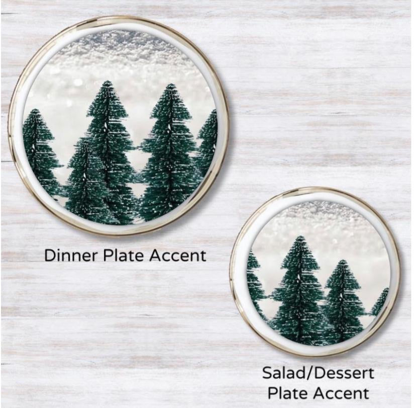 White Christmas Plate Accent