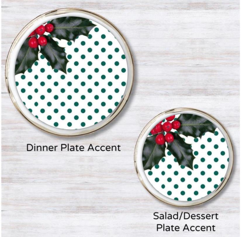 Holly Jolly Christmas Plate Accent