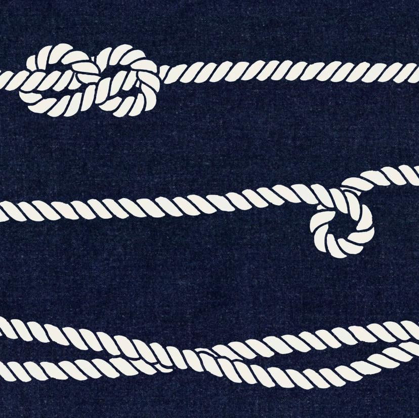Nautical Mile Navy Charger (ENLARGED TO SHOW DETAIL) - (SQUARE)