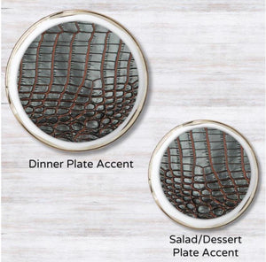 Charcoal Croc Plate Accent