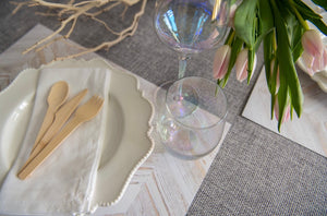 White Wash Herringbone - Placemat