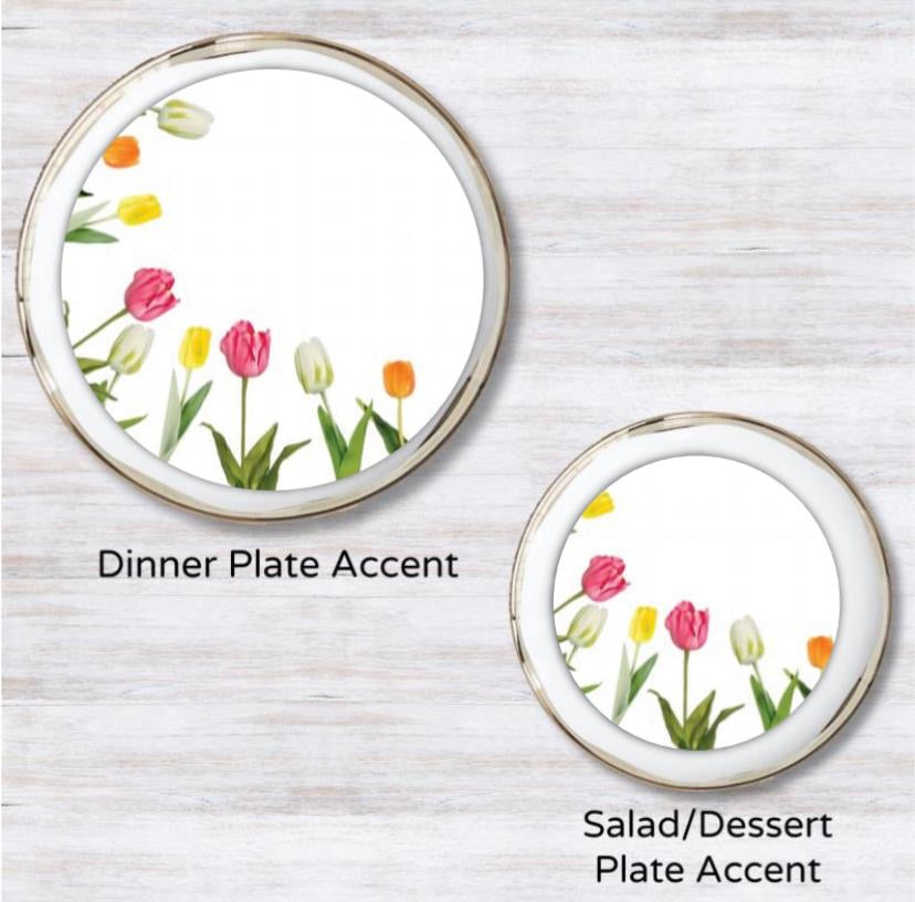 Spring Ring Plate Accent