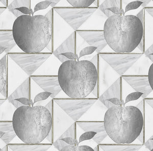 Silver Apple Charger (ENLARGED TO SHOW DETAIL) - (SQUARE)