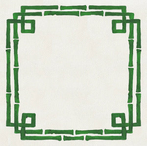 Bamboo Green Charger (ENLARGED TO SHOW DETAIL) - (SQUARE)