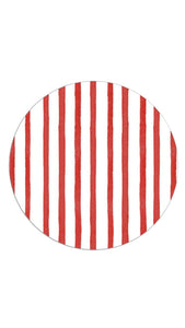 Red Painted Stripe Plate Accent