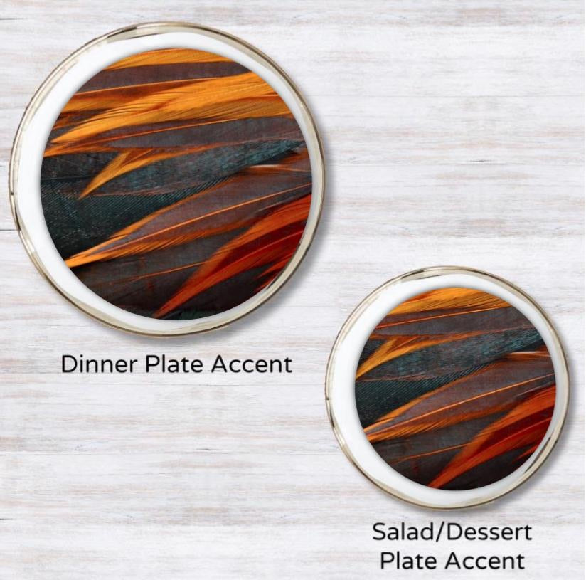 Sunrise Plumes Plate Accent