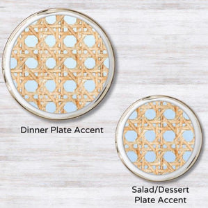 Wicker Blue Plate Accent