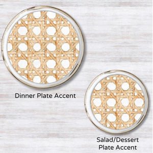 Wicker White Plate Accent