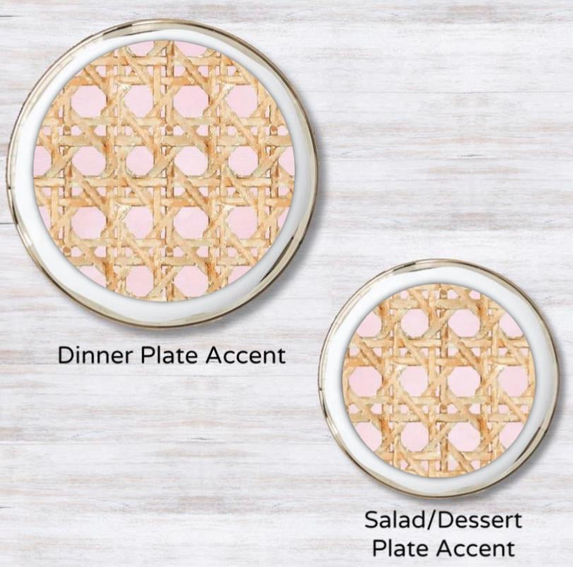 Wicker Pink Plate Accent