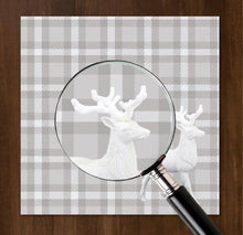 Load image into Gallery viewer, Prancer Plaid Charger (ENLARGED TO SHOW DETAIL) - (SQUARE)