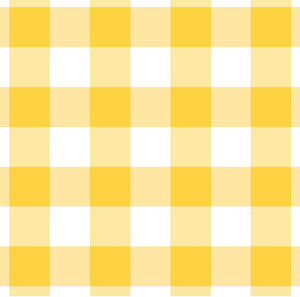 Gingham Yellow Charger (ENLARGED TO SHOW DETAIL) - (SQUARE)