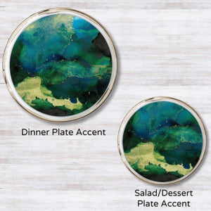 Swirl Blue - Green  Plate Accent