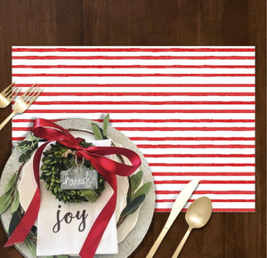 Red Painted Stripe - Placemat