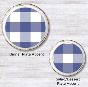 Gingham Plate Accent