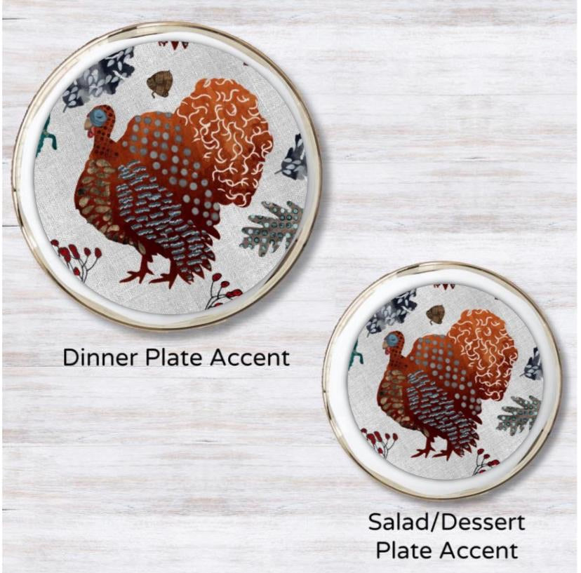 Parade of Gobbles  Plate Accent