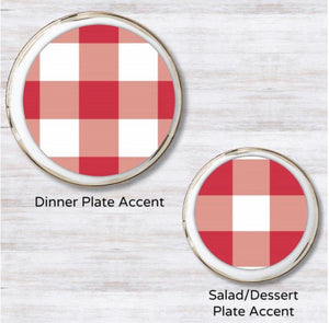 Gingham Red Plate Accent