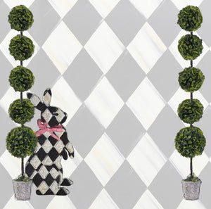 Harlequin Hedge Charger (ENLARGED TO SHOW DETAIL) - (SQUARE)