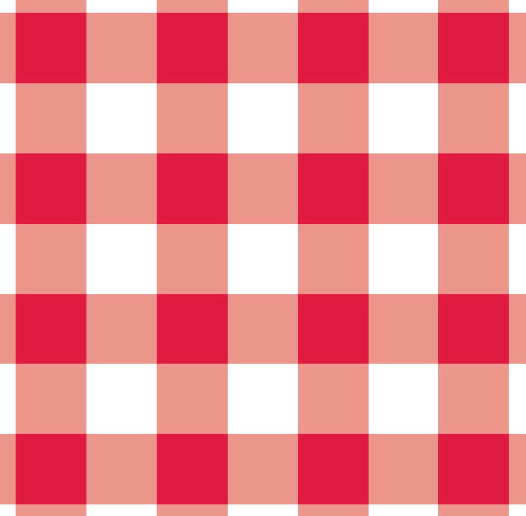 Gingham Red Charger - (SQUARE)