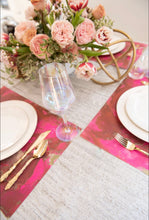 Load image into Gallery viewer, Swirl Pink - Gold - Placemat