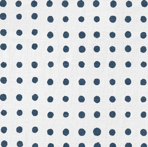 Chambray Painted Dot Charger (ENLARGED TO SHOW DETAIL) - (SQUARE)