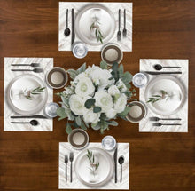 Load image into Gallery viewer, White Wash Herringbone - Placemat