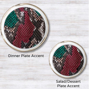 Sangria Slither Plate Accent