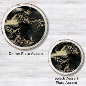 Swirl Gold - Black Plate Accent