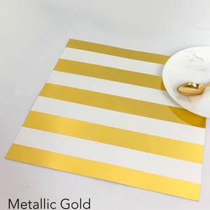 Foil Stripe - Charger (ENLARGED TO SHOW DETAIL) - (SQUARE)