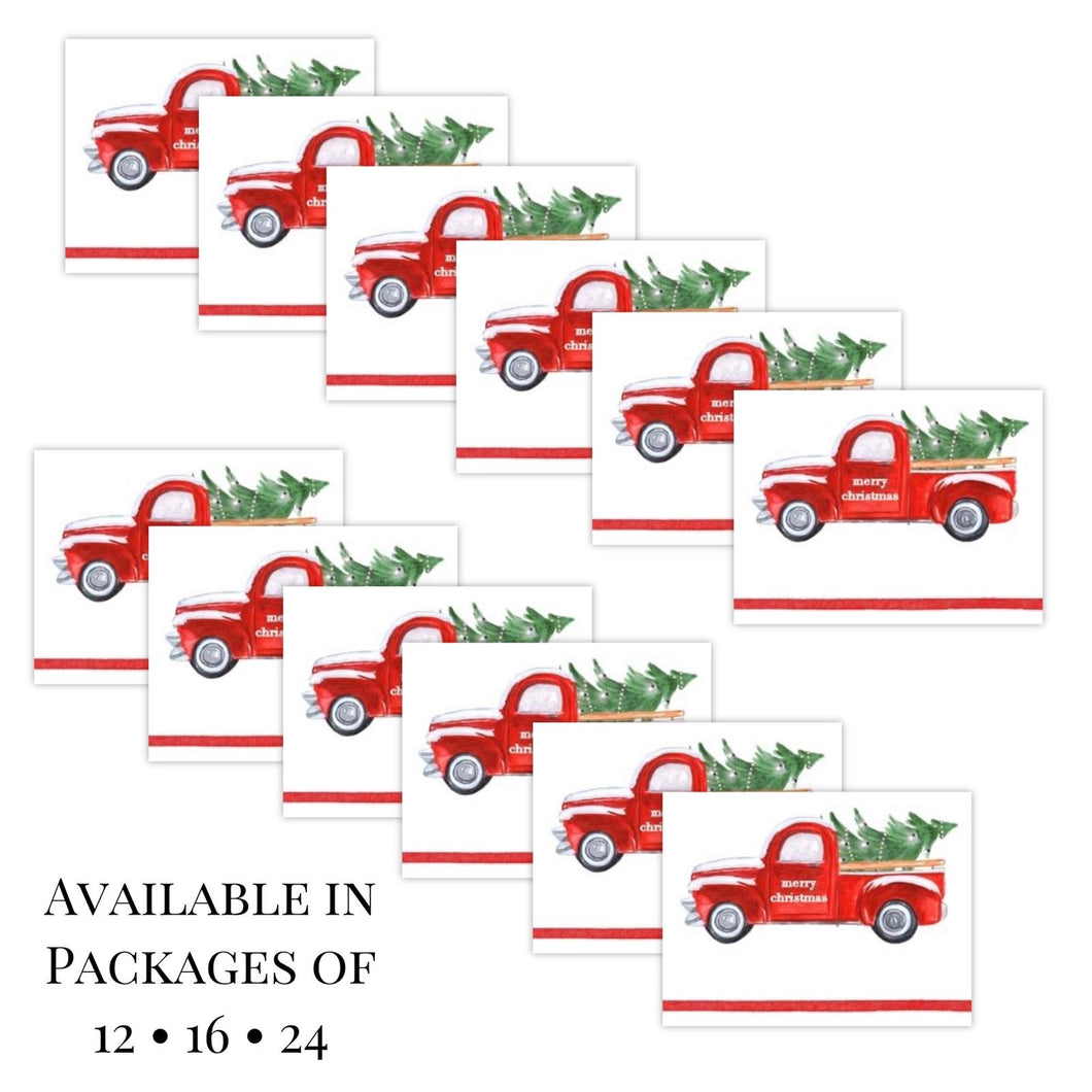 Red Christmas Truck Placecards