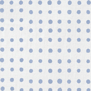 Blue Painted Dot Charger (ENLARGED TO SHOW DETAIL) - (SQUARE)