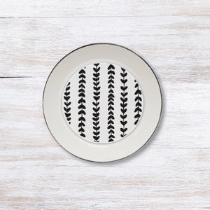 Laurel Stripe Plate Accent