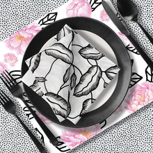 Load image into Gallery viewer, Graphic Peony Charger (ENLARGED TO SHOW DETAIL) - (SQUARE)