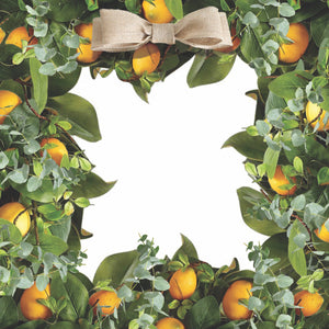 Lemon Wreath Charger (ENLARGED TO SHOW DETAIL) - (SQUARE)