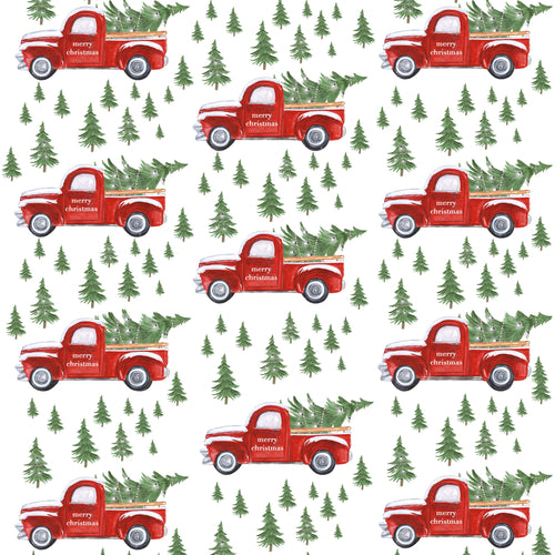 Red Christmas Truck Charger - (SQUARE)