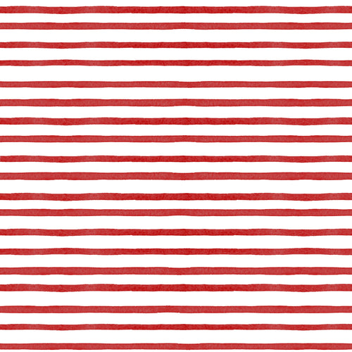 Red Painted Stripe Charger - (SQUARE)