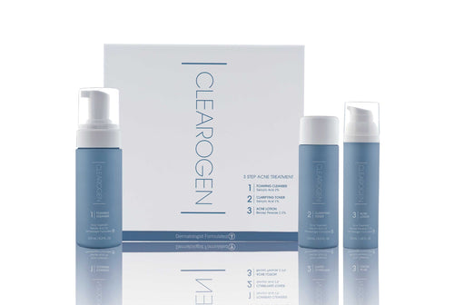Clearogen Acne Treatment Set with Benzoyl Peroxide (4 Month Supply) - Clearogen