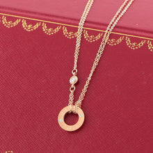 Load image into Gallery viewer, S/Steel Rose Gold / White Gold / Yellow Gold Plated Love Necklace with Swarovski Crystals