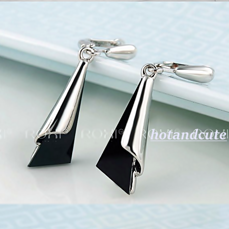 Versatile White Gold Plated Earrings