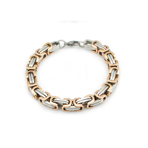 Stainless Steel 316 LBali Chain Bracelet Silver Gold Rose Gold Plated Black
