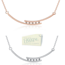 Load image into Gallery viewer, 18ct White Gold Plated / Rose Gold Plated Necklace with Swarovski Crystals
