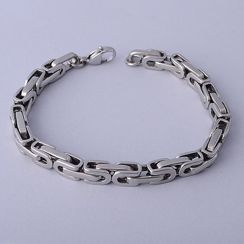 Stainless Steel Bali Chain Bracelet
