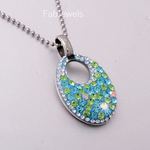 High Quality Stainless Steel 316L Pendant with Swarovski Crystals