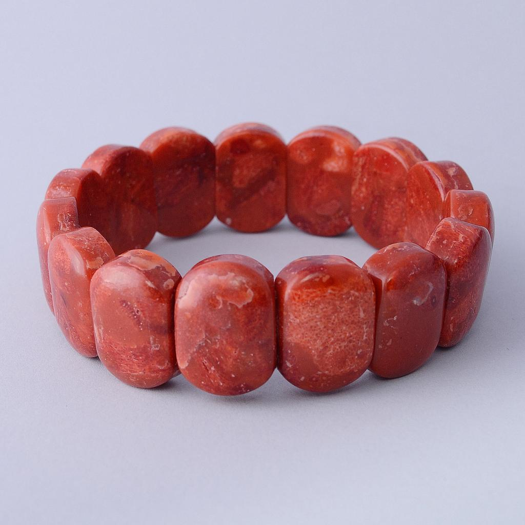 Red Coral Gemstones Bracelet