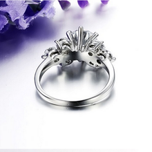 Load image into Gallery viewer, Highest Quality Titanium Stainless Steel 316L Ring with Swarovski Crystals