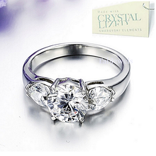 Load image into Gallery viewer, Stainless Steel 316L Ring with Swarovski Crystals Never Fade