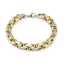 Load image into Gallery viewer, Stainless Steel 316 LBali Chain Bracelet Silver Gold Rose Gold Plated Black