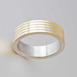 Solid Gold Plated Band Ring